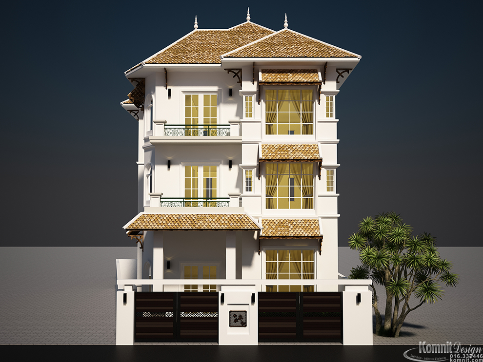 House Ep10 Exterior House Projects Komnit Rachna