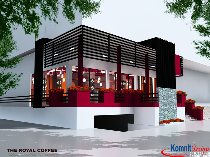 REK48 Exterior Restaurant Projects Komnit Rachna Simple Exterior Restaurant Design