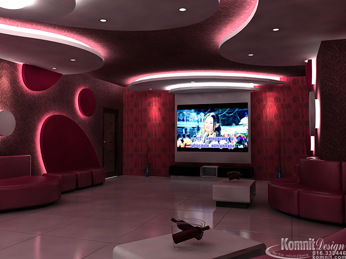 Karaoke k1 interior karaoke projects komnit rachna for Living room karaoke