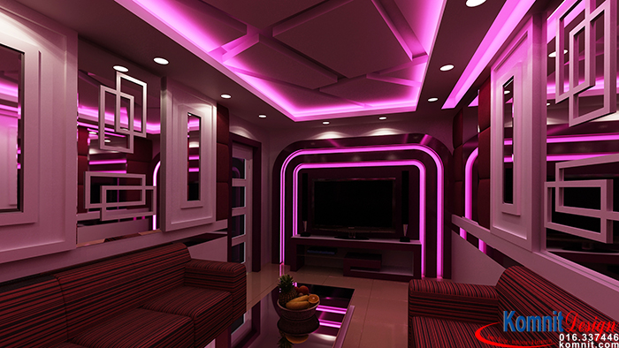 Young and creative karaoke room design in china the best for Living room karaoke
